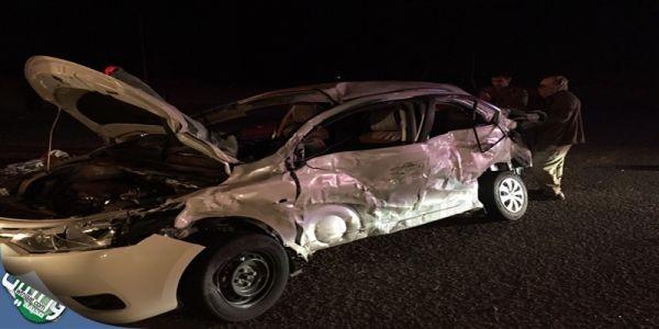 هلال #تبوك (4) وفيات وثلاثت إصابات بحادث طريق عمان فجراليوم