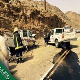 #الباحة: وفاة شخص وإصابة آخر بطريق يبس - المخواة