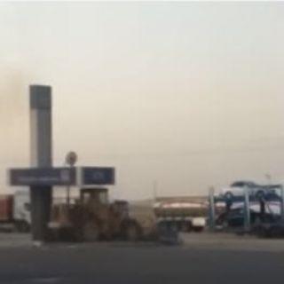"""شرطة #الجوف تُحقق في اقتلاع """"شيول"""" جهاز صراف آلي (فيديو)"""