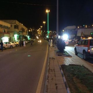 """هلال الباحة يُباشر """"4"""" حوادث إحداها حادث دهس"""