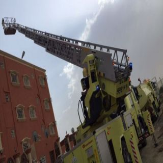 نجاة فتاتين أثر إختنقهن في حادث حريق مستودع بشقة سكنية بـ #خميس_مشيط