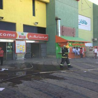 مدني #تبوك يُسيطر على حريق مخبز داخل مول بحي الصالحية
