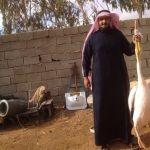 الجوف - مواطن يعثر على طائر بجع وفي أحدى ارجله سوارة إسرائيلية