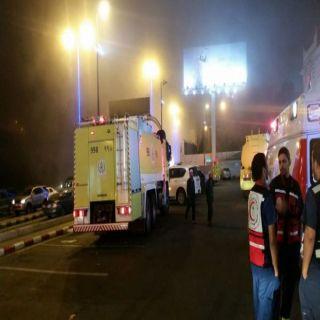 إدارة مُجمع تجاري بعسير تُخمد حريق محدود والدفاع المدني يُغلق المجمع إحترازياً
