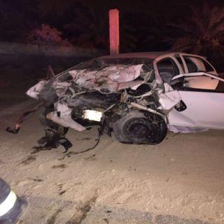هلال #القصيم: وفاتين وحالة خطيرة بحادث سير بطريق القرعا