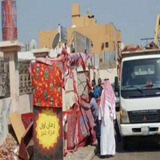 إزالة 114 عربة وبسطات عشوائية مخالفة بعدة مواقع جنوب #جدة