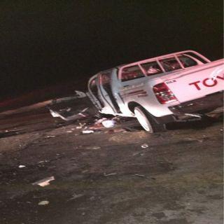 حادث تصادم وجهاُ لوجه يُخلف وفاة 7 وإصابة 2 غرب #القصيم