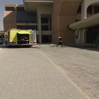 مدني #الرياض يُخمد حريقً محدود بمبنى الجوازات