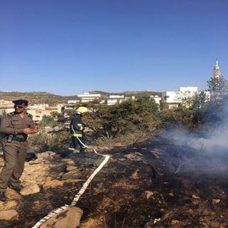 مدني #الباحة يُسيطر على حريق مُدرجات زراعية في قرية بني حده