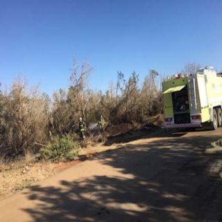 مدني #بلقرن يُسطر على حريق اشجار العرعر بمنتزه الملك خالد بمركز #البشائر