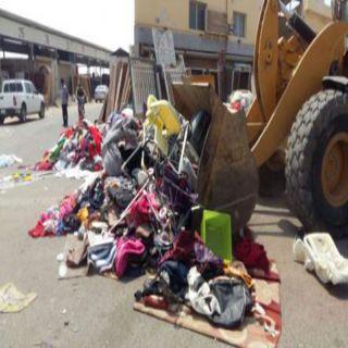 بلدية جنوب #جدة تُتلف 60 طناً من الملابس المستعملة