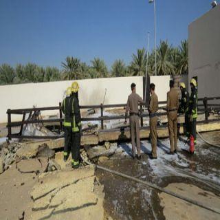 مدني #بُريدة يخمد حريق محدود بمحطة وقود بحي الشقة