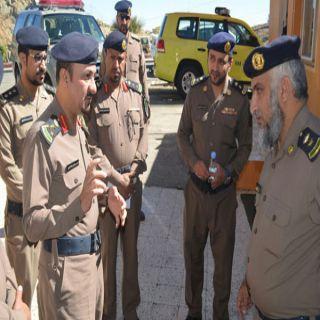 مساعد مُدير مدني#الباحة يقف على جاهزية الدفاع المدني بمُحافظة القرى