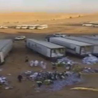 فيديو -أمانة #القصيم تُتلف حمولة 25 شاحنة من الدجاج الفاسد