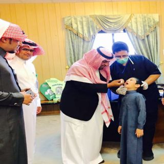 وكيل محافظة #المندق  يدشن حملة التطعيم الموسمية التي تستهدف طلاب الصف الاول الابتدائي
