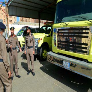 مساعد مُدير مدني #الباحة يتفقد إدارة الدفاع المدني بمُحافظة #المندق