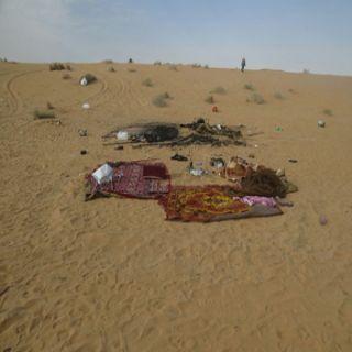 مدني #القصيم وفاة شاب في حريق مُخيم بري شرق بريدة وإنتشال طفل سقط في منور
