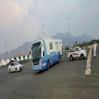بالصور قافلة جمعية الكوثر الطبية تصل مقر مهرجان #بارق الشتوي