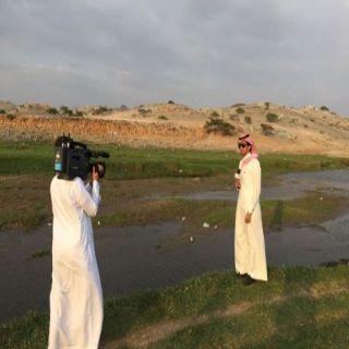 """""""وطنيات"""" تُرافق فريق التلفزيون السعودي لوادي البر داني ثم لمهرجان #بارق الشتوي"""