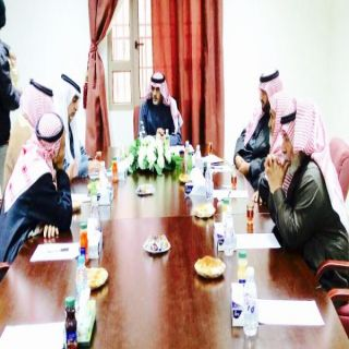 رئيس مركز برحرح في #الباحة يلتقي أعضاء لجنة اصلاح ذات البين ببرحرح