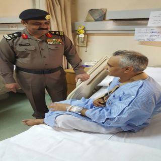 مُدير شرطة #مكة يرافقه مُدير شرطة #جدة يُطمئنان على صحة الرقيب المالكي