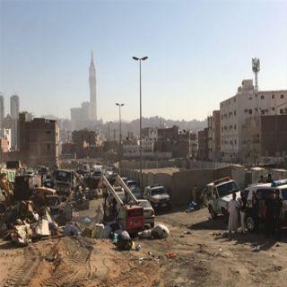 """""""حملة ضياء"""" حملة أمنية مشتركة  بـ#مكة لإزالة المنطقة العشوائية (بحوش بكر)"""