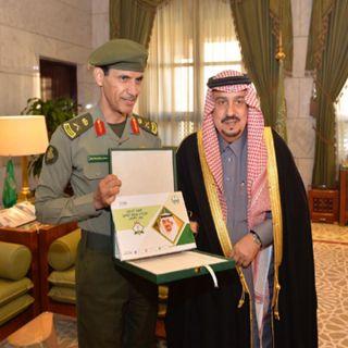 أمير #الرياض يستقبل اللواء السحيباني مُدير جوازات المنطقة