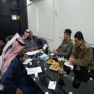 اجتماع تنسيقي يجمع مُدير الامن والسلامة بمدني القصيم ومُدير الأمن والسلامة بتعليم المنطقة