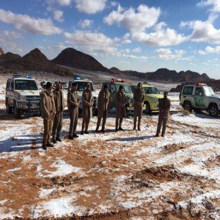 مدني #حقل ينفذ خطة مواجهة تساقط الثلج في المحافظة