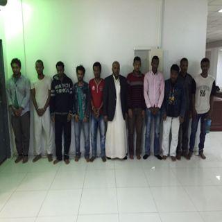 11 متورطاً في قضايا سلب عُملاء  البنوك في قبضة شرطة الرياض