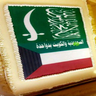 مدرسة في #عسير تحتفل بطالبة كويتية في اليوم الوطني لبلادها