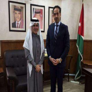 مدير هيئة الاعلام الأردني يستقبل مدير المكتب الاعلامي في السفارة السعودية