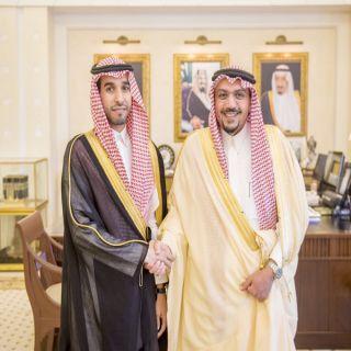 أمير #القصيم يستقبل خالد السليم مُدير #بنك_البلاد بمنطقة القصيم