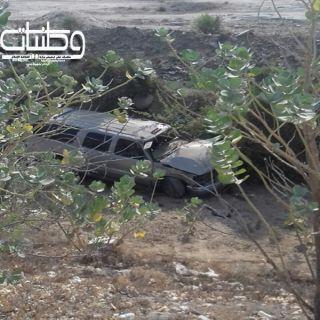 جمال سائبة تتسبب في سقوط مركبة بمنحدر في وادي بقرة