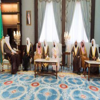 أمير الباحة يستقبل في مكتبه رئيس كتابة العدل في المنطقة