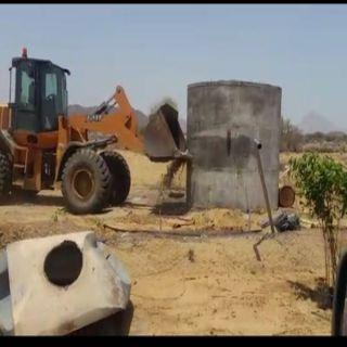 بلدية #بارق تستعيد أكثر من (10) آلاف متر مُربع في تعديات بخبت آل حجري