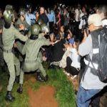 الشرطة المغربية تفض احتجاجا على عفو ملكي عن معتد جنسيا على اطفال