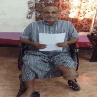 عبد الله الشهري اثقلته الديون وبترت ساقة الغرغرينا