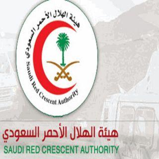 هلال القصيم 11 فرقة اسعافية باشرت حادث سير شمال بريدة خلف وفاة و(13) إصابة
