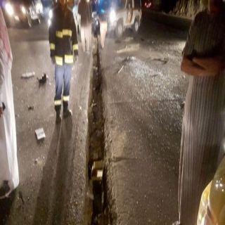 """حادث انقلاب بطريق عفراء العضاضة يُخلف 3 وفيات و""""6 """" إصابات لعائلة واحدة"""