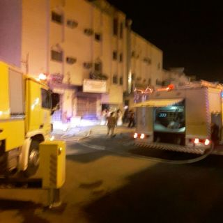 مدني #بُريدة يُخمد حريق مُخلفات اثاث بعمارة سكنية بحي الهلال