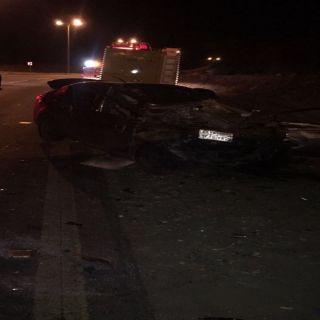 وفاة (5) من عائلة واحدة في تصادم مركبتين بطريق أبها الطائف