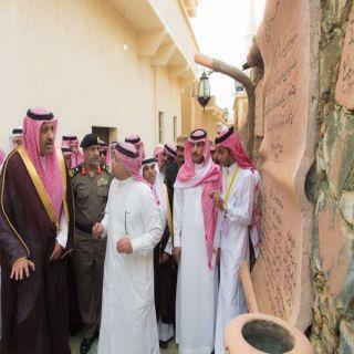 أمير منطقة الباحة يتفقد محافظة القرى