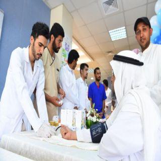 """#جامعة_القصيم تطلق حملة """"بالصحة نهتم لتهتم"""" في تخصصي بريدة"""