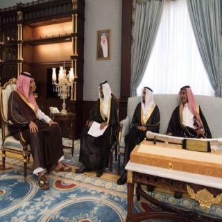 أمير #الباحة يلتقي بمكتبه مدير عام فرع وزارة العدل بالمنطقة