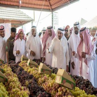 أمير القصيم: القيادة تدعم المهرجانات الزراعية لتنمية الاقتصاد الوطني