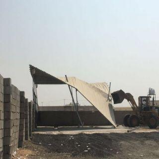 بلدية أم السلم في مُحافظة جدة تُحبط تعديات على عدة مواقع تابعة للبلدية