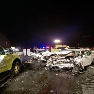 حادث تصادم بعقبة ضلع في عسير يُخلف (4) إصابات ووفاتين
