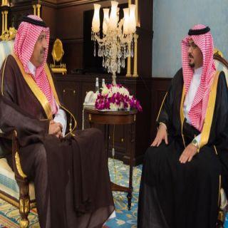 أمير الباحة في استقبالة أمين المنطقة يؤكد على أهمية مضاعفة الجهود وتقديم افضل الخدمات