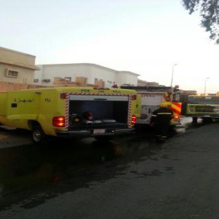 مدني #بريدة يخمد حريق منزل بحي الفايزية